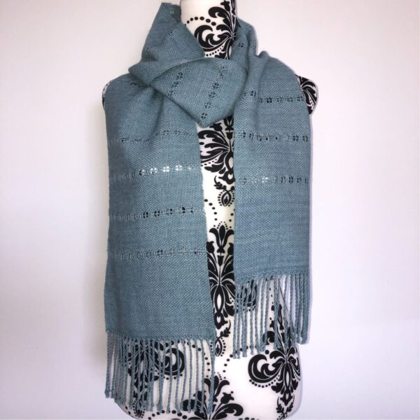 A blue-grey scarf in Pima cotton