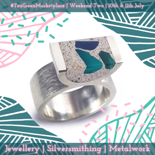 Silver ring by Natalie Baker Marketplace Weekend Two
