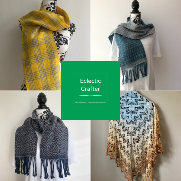 A selection of woven and crochet makes