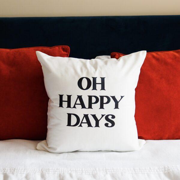 statement, soft white cushion
