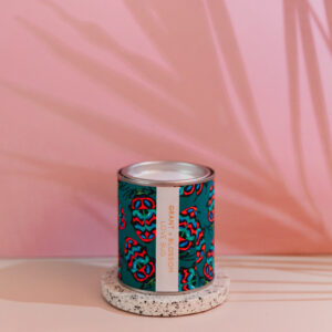 Grant + Blossom large candle pot in Love Bug designed by Mableleighprints