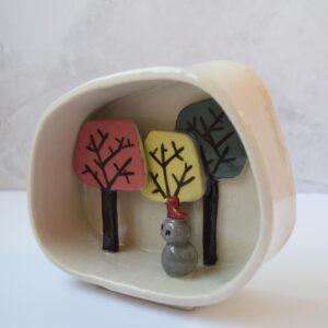 CatKing Ceramics,Nature Shrine,tree sculpture,Pedddle