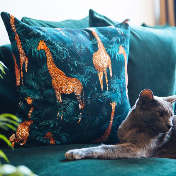 20 Seventh Letter Giraffe Cushion