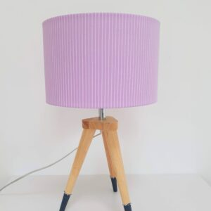 The Present Home Upcycled Lilac Stripe Lampshade