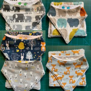 Baby Bib Gift Sets made with Organic Bamboo Towelling.