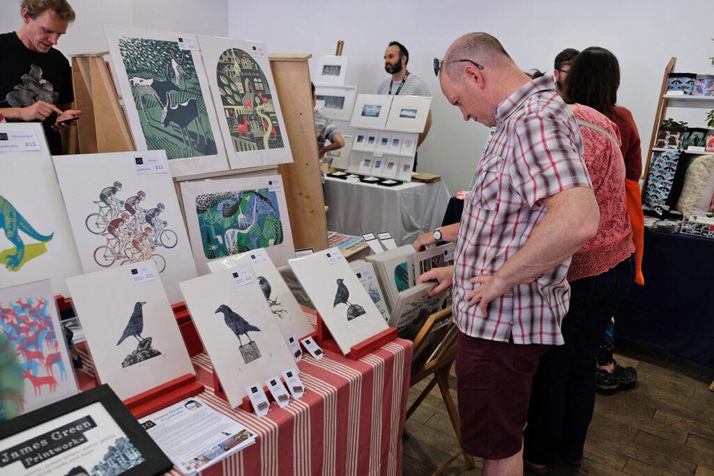 James Green and Jamie Barnes at Liverpool Print Fair, June 2018