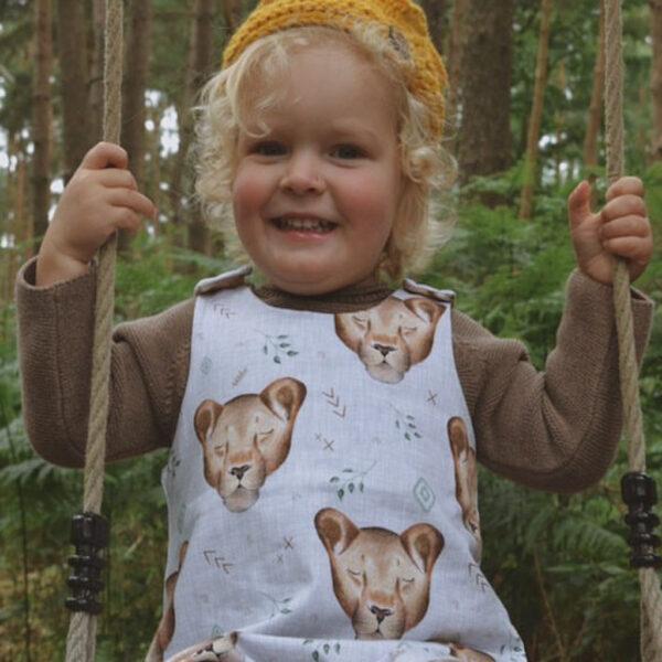 Little acorn makes Lola lion romper suit