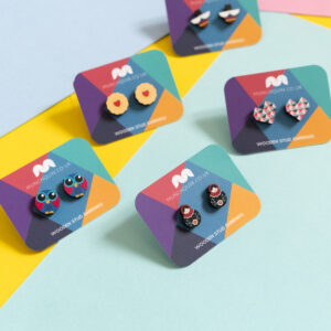 Munchquin - colourful wooden earrings