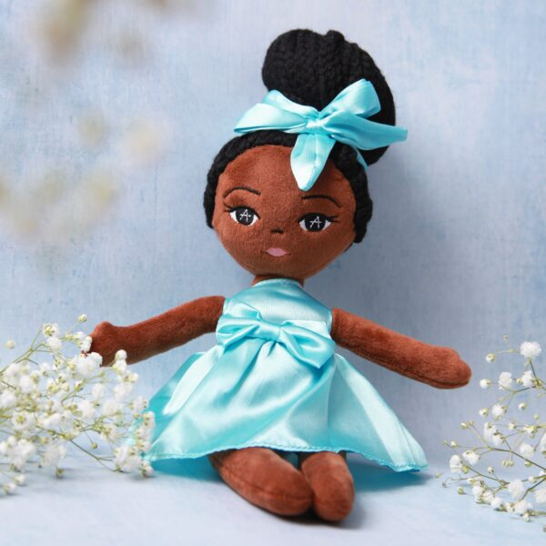 Amaris and Chaya plush black girl doll