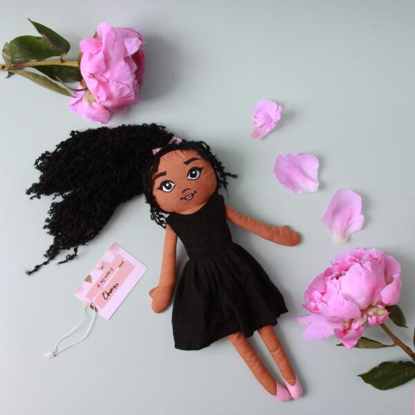 Amaris and Chaya mixed heritage Fabric girl doll