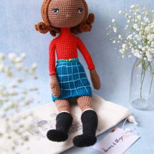 Amaris and Chaya crochet black girl doll