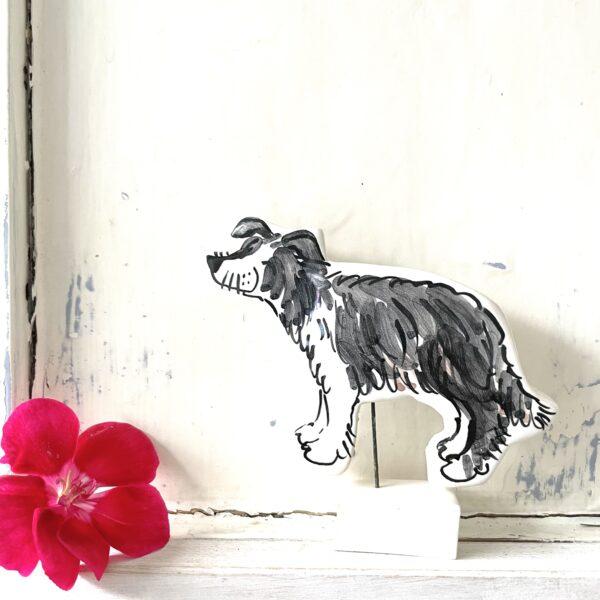 Louise Crookenden-Johnson Christmas Pet portrait pottery ornament