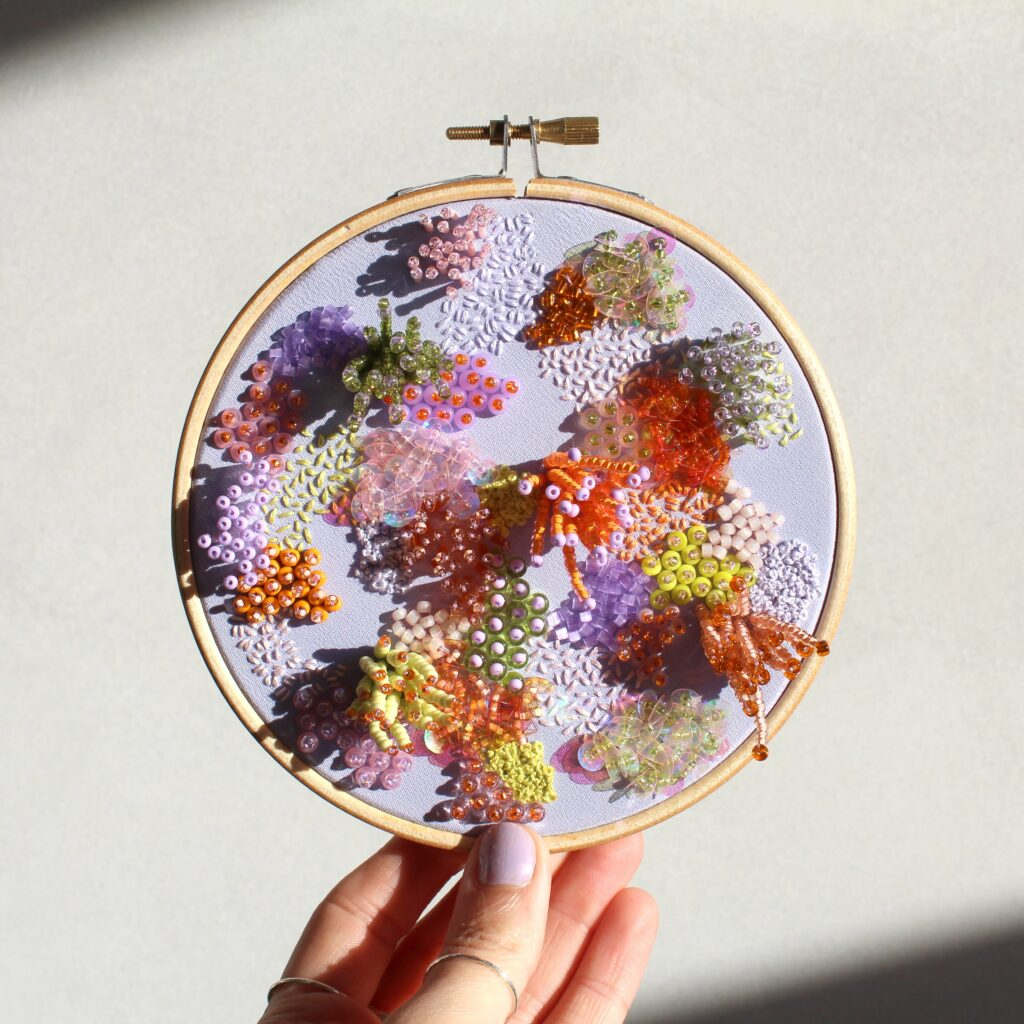 imogen melissa, 5 inch embroidery hoop 'daydreaming'