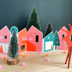 The Print Lass, Paper Christmas Houses
